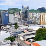 Centro de negocio de Louis Mauritius del puerto Foto de archivo