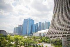 Centro de negocio de Singapur Imágenes de archivo libres de regalías