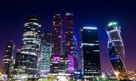 Centro de negocios de la ciudad de Moscú Imagen de archivo libre de regalías