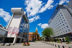 Centro de negocios de Maribor, Eslovenia Imagenes de archivo