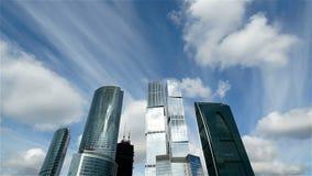 Centro de negocios de Moscú almacen de metraje de vídeo