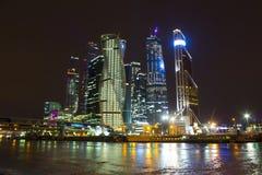 Centro de negocios del International de Moscú Fotos de archivo libres de regalías