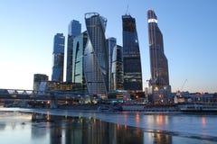 Centro de negocios del International de Moscú Imagen de archivo libre de regalías