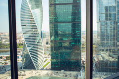 Centro de negocios del International de Moscú de la Moscú-ciudad Fotos de archivo