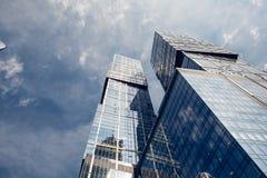 Centro de negocios del International de Moscú de la Moscú-ciudad Foto de archivo libre de regalías