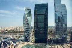 Centro de negocios del International de Moscú de la Moscú-ciudad Fotos de archivo libres de regalías