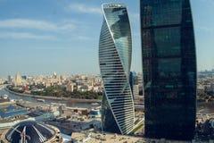 Centro de negocios del International de Moscú de la Moscú-ciudad Imagen de archivo libre de regalías