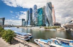 Centro de negocios del International de Moscú de los rascacielos Imágenes de archivo libres de regalías
