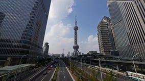 Centro de negocios del lujiazui de Shangai, rascacielos y torre de la perla TV de Oriente metrajes