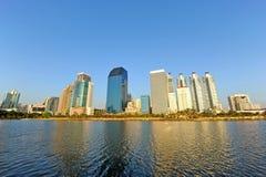 Centro de negocios en Bangkok Imagen de archivo libre de regalías