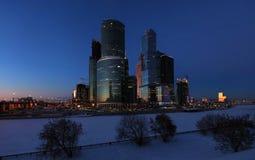 Centro de negocios internacional en Moscú Foto de archivo libre de regalías