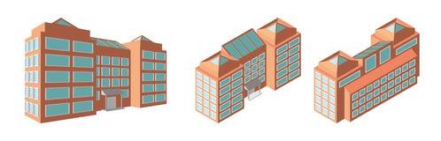 Centro de negocios isométrico 3d modernos se dirigen plan Ilustración aislada del vector Imagen de archivo libre de regalías
