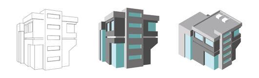Centro de negocios isométrico 3d modernos se dirigen plan Ilustración aislada del vector stock de ilustración