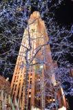 Centro de New York City Rockefeller fotografía de archivo