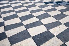 Centro de pedra preto e branco da textura Fotos de Stock Royalty Free
