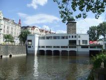 Centro de Praga - torre de las melenas Fotos de archivo