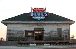 Centro de recepción de Mississippi del Tunica, entrada a los azules imagen de archivo