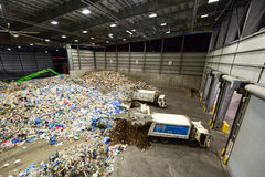 Centro de reciclaje municipal de Sims Foto de archivo libre de regalías