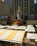 Centro de Rockefeller, bailarina asentada de Jeff Koons, New York City, NYC, NY, los E.E.U.U. Fotos de archivo libres de regalías