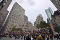 Centro de Rockefeller, Manhattan, New York City Fotos de archivo libres de regalías