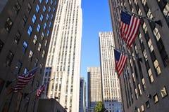 Centro de Rockefeller, Nueva York, los E.E.U.U. Imagen de archivo libre de regalías