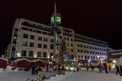 Centro de Rovaniemi en Laponia, Finlandia fotos de archivo libres de regalías