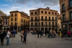 Centro de Segovia Fotos de Stock Royalty Free
