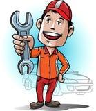 Centro de serviço do auto mecânico da mascote Fotos de Stock