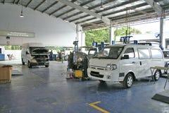 Centro de servicio automotor Imágenes de archivo libres de regalías
