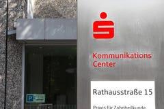 Centro de Sparkasse Kommunikations Fotografía de archivo libre de regalías