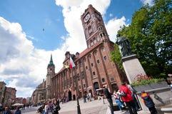 Centro de Torun, Polonia Imágenes de archivo libres de regalías