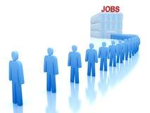 Centro de trabalho: Os desempregados que procuram um trabalho Fotografia de Stock Royalty Free