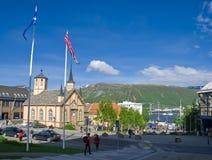 Centro de Tromso imagens de stock royalty free