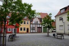 Centro de una pequeña ciudad alemana Imagen de archivo libre de regalías