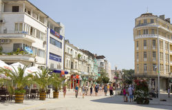 Centro de Varna, Bulgária Imagens de Stock Royalty Free
