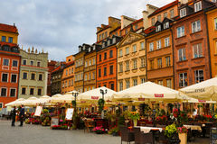 Centro de Varsovia Imagenes de archivo
