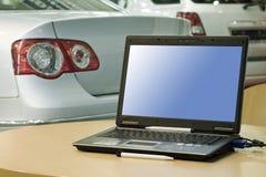 Centro de vendas do automóvel imagens de stock