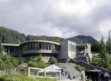 Centro degli ospiti al ghiacciaio di Mendenhall Fotografie Stock Libere da Diritti