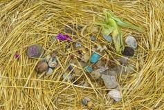 Centro del cerchio del raccolto del UFO Fotografia Stock Libera da Diritti