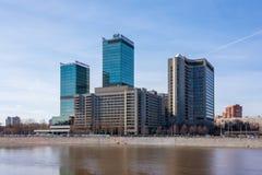 Centro del commercio internazionale sull'argine di Krasnopresnenskaya a Mosca, Russia fotografie stock