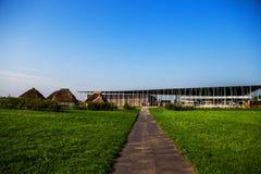 Centro del ` degli ospiti di Stonehenge fotografia stock libera da diritti