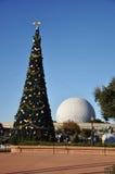 Centro del Disney Epcot sul giorno di Natale Fotografia Stock
