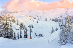 Centro del esquí de Vogel Imágenes de archivo libres de regalías