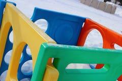 Centro del gioco nell'inverno 1 Fotografie Stock