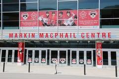Centro del hockey de Markin MacPhail situado en el parque olímpico de Canadá fotografía de archivo
