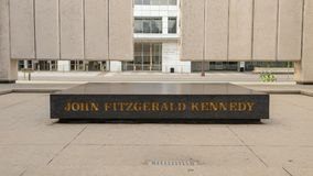 Centro del John F Kennedy Memorial, Dallas, il Texas Fotografia Stock Libera da Diritti