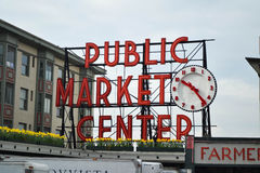 Centro del mercato pubblico, Seattle, Washington Fotografia Stock