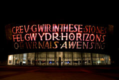 Centro del milenio, Cardiff Fotografía de archivo libre de regalías