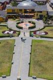 Centro del mondo, Mitad del Mundo, Sudamerica Fotografia Stock