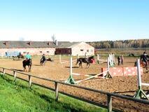Centro del montar a caballo Fotografía de archivo